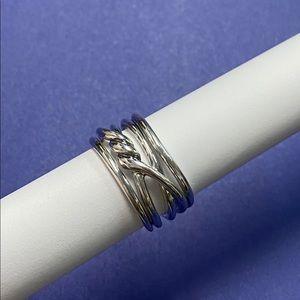David Yurman 14mm Continuance Stacked Silver Ring